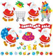 Christmas sale Stock Illustration