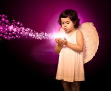 Angel little girl Stock Illustration