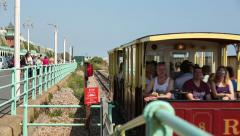 Historic Volks Electric Railway, Brighton Stock Footage