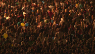 Stock Video Footage of Huge crowd of fans at a rock concert in Kiev.