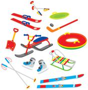 Objects for winter leisure Stock Illustration