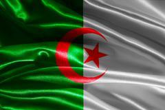 Flag of algeria Stock Illustration