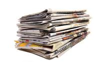 Stock Photo of bunch of dutch newspapers