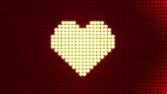 Movement Arrows of Hearts Background 01 Stock Footage