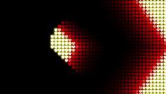 Movement Arrows of Hearts 01 more dark Stock Footage