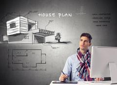 Architect house planing -design Stock Illustration