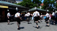 Traditional Bavarian Folk dance Schuhplattler Tanz Munich Germany Europe Stock Footage