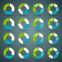 Stock Illustration of Circle arrows set for your info graphic