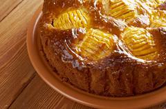 apfelkuchen - stock photo