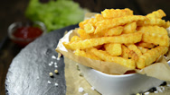 Stock Video Footage of rotating french fries (loopable)