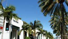 4K, UHD, BlackMagic Camera - Rodeo Drive, Beverly Hills, Los Angeles, California Stock Footage