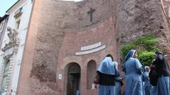 Basilica di Santa Maria degli Angeli e dei Martiri alle Terme di Diocleziano  Stock Footage