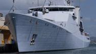 Dutch navy warship HNMLS Groninger P843  patrol boat 4 Stock Footage