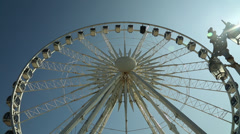 Brighton Ferris Wheel Front on Wide Stock Footage