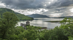 Slow zoom of eilean donan castle, dornie, highlands, scotland Stock Footage