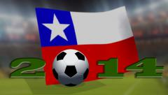 Soccer world cup 2014 - Chile flag - background video Stock Footage