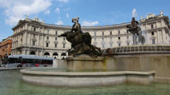 Close up Fountain of the Naiads Stock Footage