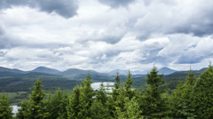Time lapse of loch garry trees, highlands, scotland Stock Footage