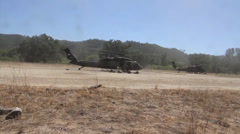 UH-60 Blackhawk Helicopters - stock footage