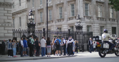 Downing St, home to British Primeminister  4K Stock Footage
