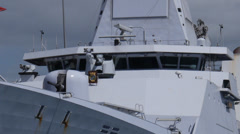 Dutch warship vessel HNMLS Groninger P843 patrol boat 6 Stock Footage