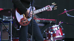 Musicians Performing on Stage - stock footage
