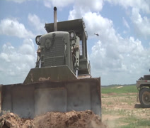 Stock Video Footage of Bulldozer crawler tracked tractor