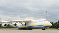 World largest airplane Antonov 225 Stock Footage