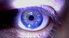 Psychedelic  Eye Wipe Stock Footage