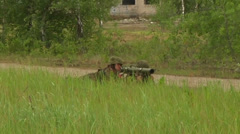 Lithuanian Soldiers defend their positions at Saber Strike 2014 - stock footage