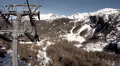 Alpine cable car vehicle shot in Matterhorn alps direction Zermatt Footage