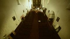 White church Stock Footage
