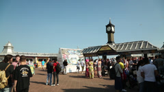 Brighton Pier Concourse Wide - stock footage
