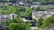 Stock Video Footage of River Kent flowing through Kendal