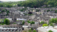 Stock Video Footage of Kendal townscape high angle view