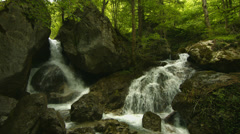 cascades in forest - stock footage