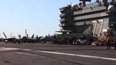 USS George H.W. Bush (CVN 77) aircraft carrier operations Stock Footage
