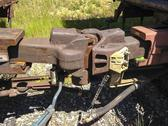 Stock Photo of The Interlocked Couplers For Two Railroad Cars