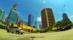 KUALA LUMPUR- JUNE 2014: Sunny day time lapse in Ampang Park area Stock Footage