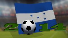 Soccer world cup 2014 - Honduras flag - background video Stock Footage