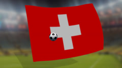 Soccer world cup 2014 - Switzerland  flag - background video Stock Footage