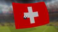 Stock Video Footage of soccer world cup 2014 - Switzerland  flag - background video