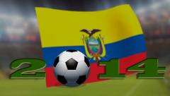 Soccer world cup 2014 - Ecuador flag - background video Stock Footage