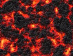 eruption volcano. solidified lava texture - stock illustration
