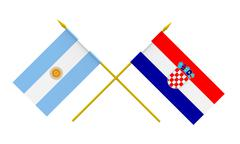 flags, argentina and croatia - stock illustration