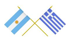flags, argentina and greece - stock illustration