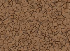 Dry cracked ground texture. abstract relief pattern Stock Illustration