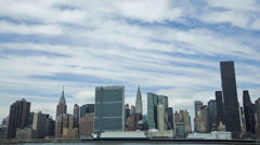 Midtown Skyline Manhattan Time-lapse - stock footage