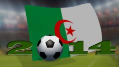 Soccer world cup 2014 - Algeria  flag - background video Stock Footage