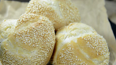 Sesame buns (not loopable) Stock Footage